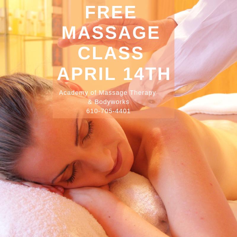 Free Massage Class April 14th